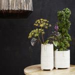 Pot en grès Beige taille M pour plantes