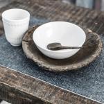 Set de table effet Lin Beija Flor modèle PN3 gris foncé