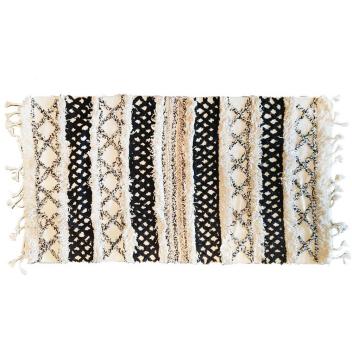 Tapis en coton avec franges Hayet Style Marocain 70 x 130 cm