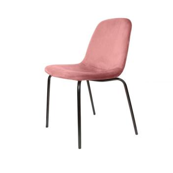 Lot de 2 chaises Velours pieds métal style Rétro - 3 coloris