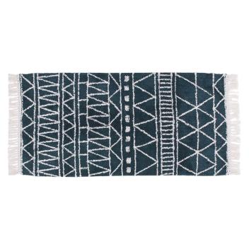 Tapis en Coton Motif ethnique Coloris vert / bleu - 2 Tailles
