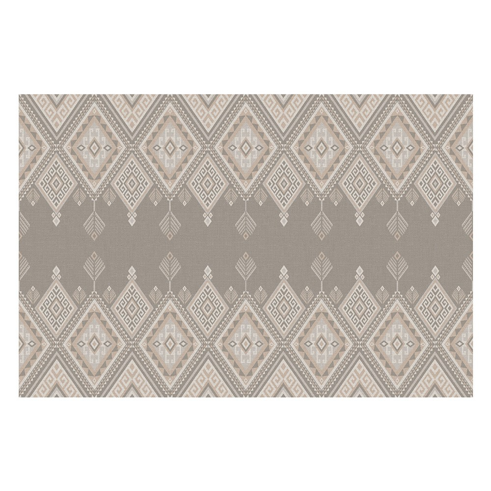 tapis vinyle matteo ethnique 5 beige fabrication allemande. Black Bedroom Furniture Sets. Home Design Ideas