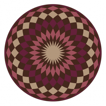 Set de table Pvc rond Matteo Modèle Mandala 4 Rouge bordeaux