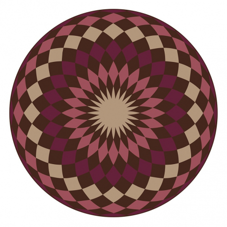 Set de table Pvc rond Matteo Modèle Mandala 4 Rouge bordeaux