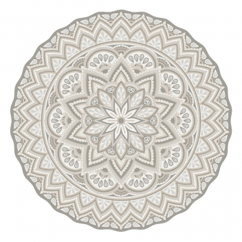 Set de table Pvc rond Matteo Mandala 1 beige