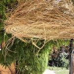 Suspension doum en paille du Maroc D. 45 cm