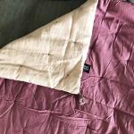 Grand sur-matelas Lin et Coton coloris Rose poudré - Violet