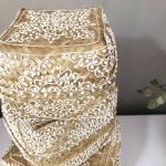 Boite à offrandes de Bali bambou avec motif blanc