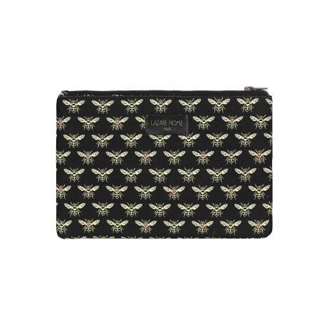 Pochette motif Abeille en tissu Made in France
