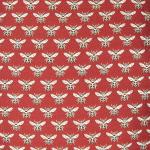 sac allongé motif Abeille rouge en tissu