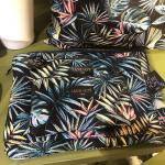 Pochette Bahia Noire et bleue en tissu