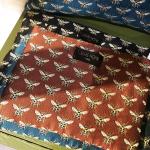 Pochette motif Abeille en tissu avec fermeture
