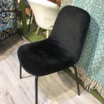 Lot de 2 chaises Velours style Rétro - 3 coloris