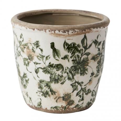 Pot pour plante ou fleur Victoria en grès patiné style Bohème - 2 tailles