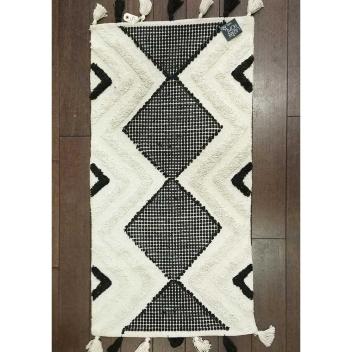 Tapis en coton avec relief Style Marocain 70 x 130 cm