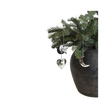set décorations en verre oxydé