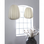 Lampe Shangaï Tissu écru ou Lanterne traditionnelle Chinoise