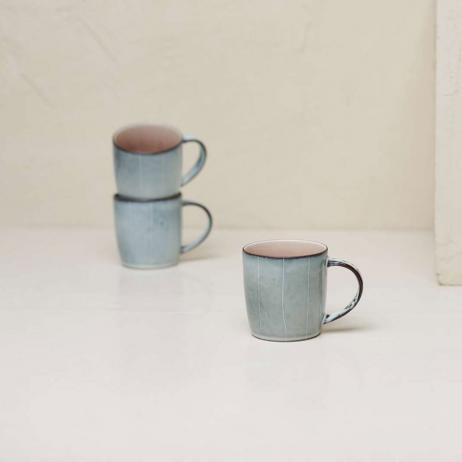 Mug gris - rose céramique