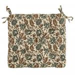 Coussin de chaise Coton motif floral Beige - Mme Stoltz