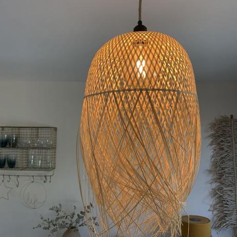 Luminaire Ibiza Bambou naturel tressé