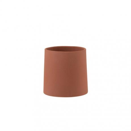 Cache-pot en Céramique Texture brute coloris Rouge terre