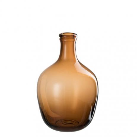 Vase ou dame Jeanne en verre Ocre - 30 cm