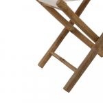 Chaise Pliante Bambou et tissu blanc