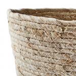 Panier cache-pot ou rangement en Feuilles de maïs