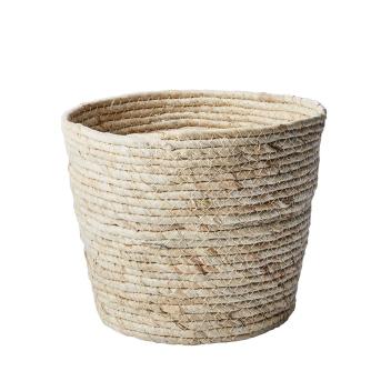 Panier naturel cache-pot ou rangement en Feuilles de maïs - 3 Tailles