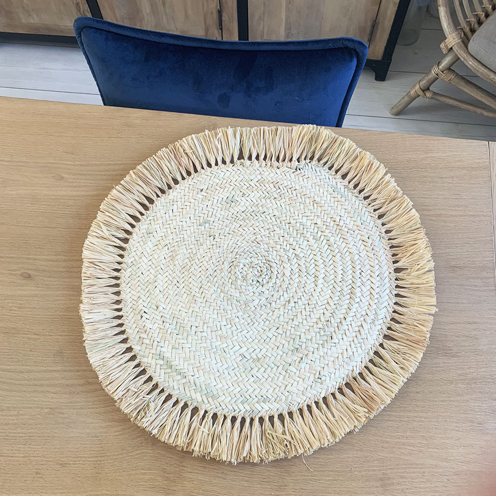 Set De Table 45 Cm Naturel Modele Palmier Tresse Et Raphia