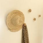 Chapeau en palmier Déco murale fait main