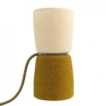 Lampe à poser BaoBa réversible tissée à la main - coloris Kaki