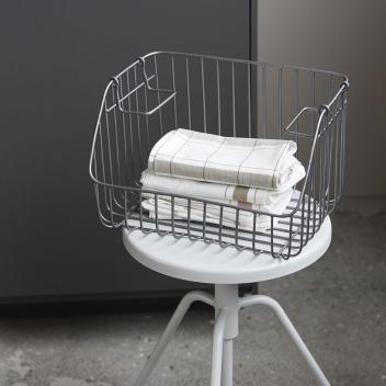Casier pour rangement cuisine ou bureau en métal gris 32 cm - House Doctor