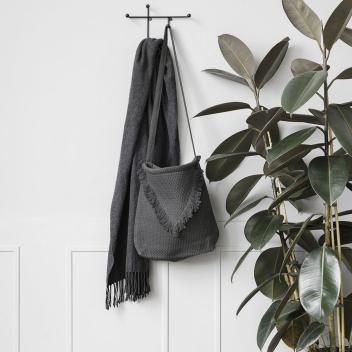 Crochets Muraux en Métal noir Porte-manteau 28 cm pour tout y suspendre