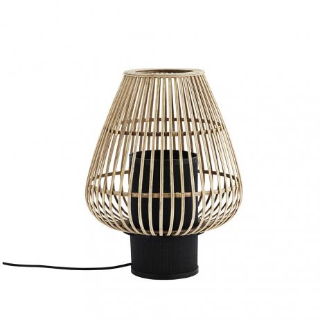 Lampe à poser bambou et Noir Madam Stoltz
