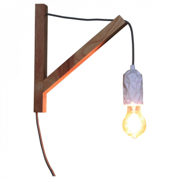 Applique Bois Massif douille céramique pour Lampe ou baladeuse