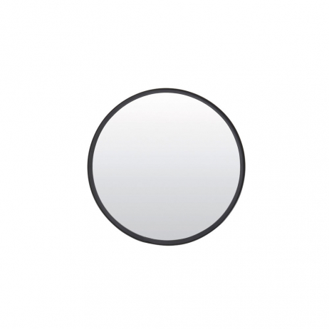 Grand Miroir rond en métal noir Mat 50cm