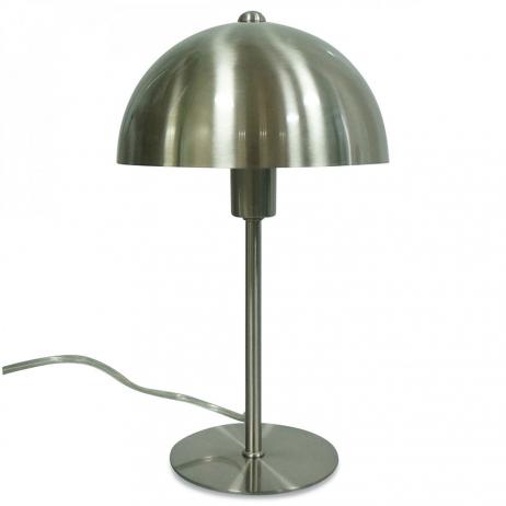 Lampe à poser dôme métal doré