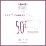 Carte Cadeau Déco MyBohem 50 eur