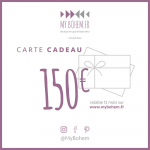 Carte Cadeau Déco MyBohem 150 eur