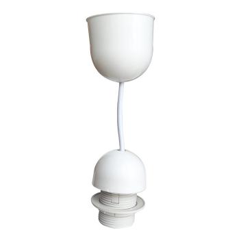 Monture blanche E27 Pvc avec Douille thermoplastique et cordon blanc