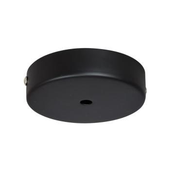 Rosace seule pour plafond métal noir mat