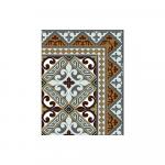 Tapis Vinyle Beija Flor Flor de Lis L1 style Carreaux ciment