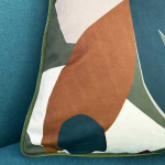 Coussin Velours motif Oiseau style Moderne