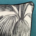 Coussin Velours motif imprimé Arbre du Voyageur - Garni