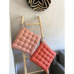 Coussin ou galette de chaise en Percale Coton coloris Orangé