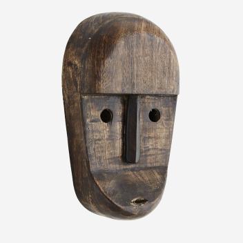 Masque artisanal en bois de manguier pour décoration murale - Stoltz