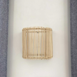 Applique en Rotin clair E27 - Modèle Bâton