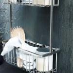 Etagère murale métal inox salle de bains