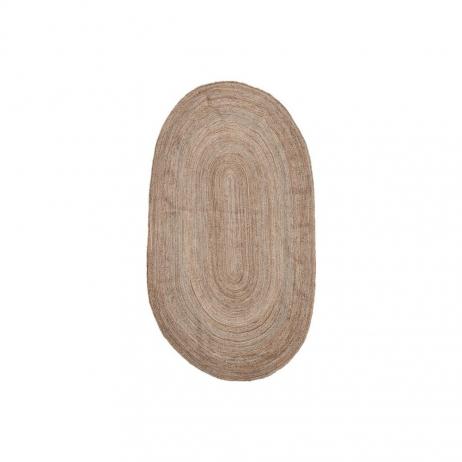 Tapis en jute ovale Style Bohème Gris / Marron